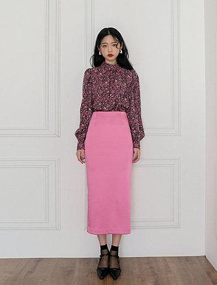 High Slit Straight Skirt