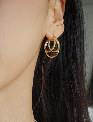 Three-Hoop Earrings