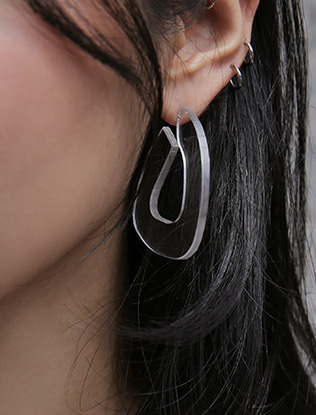 Clear Angular Earrings